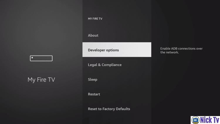 FireStick Tv Developer Options